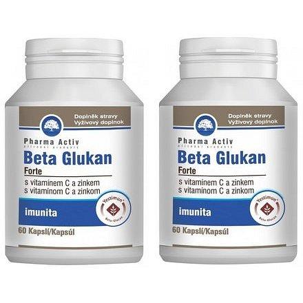 Beta Glukan Forte vitamín C a zinek cps.60 1+1