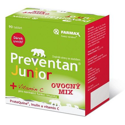 Preventan Junior ovocný mix 90 tablet + dárek