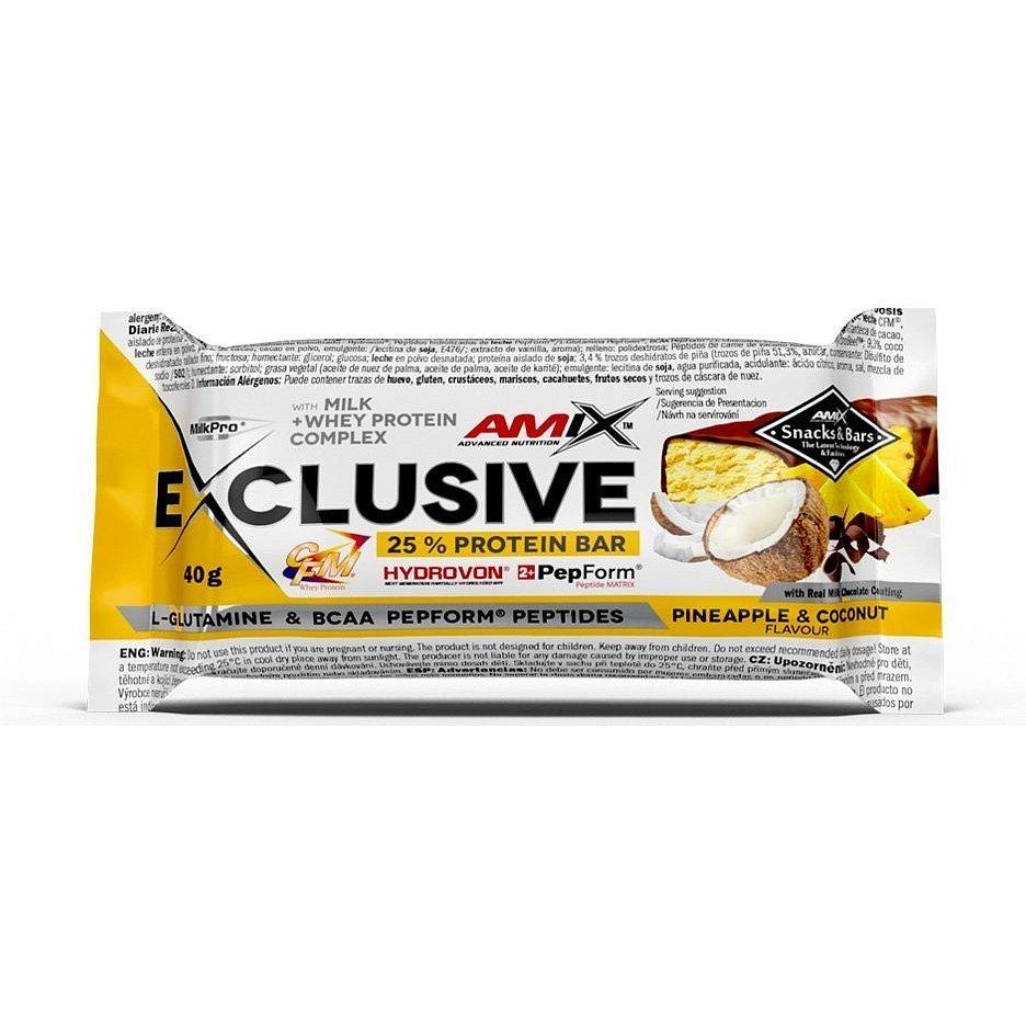 AMIX Exclusive Protein Bar, Ananas-kokos, 40g