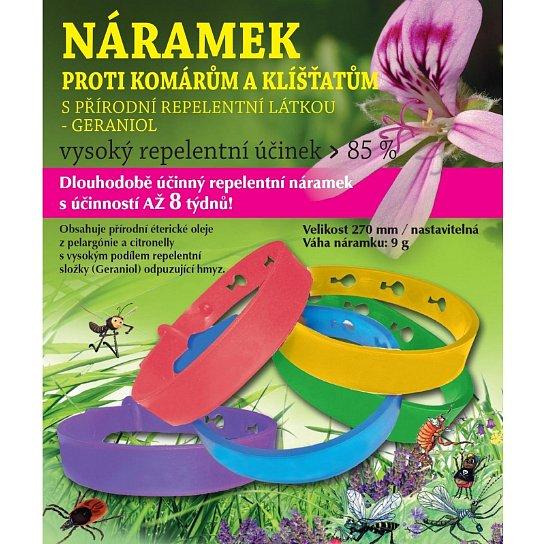 Hanna Maria Repelentní náramek proti komárům a klíšťatům Růžový 270mm