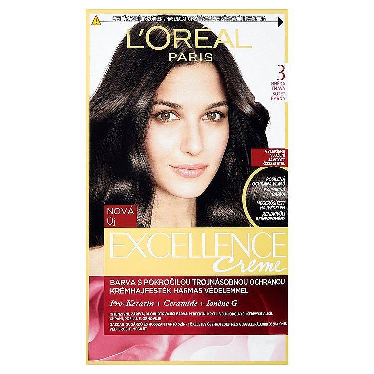 L'Oréal Paris Excellence Crème hnědá tmavá 3