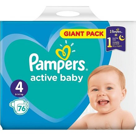 Pampers Active Baby Giant Pack S4 76ks