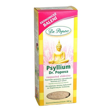 Psyllium indická rozpustná vláknina 200g Dr.Popov