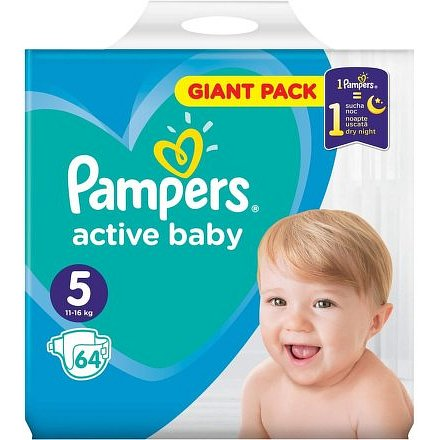 Pampers Active Baby Giant Pack S5 64ks