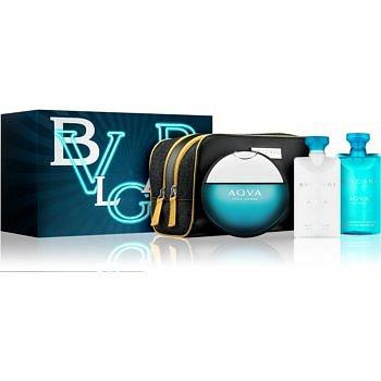 Bvlgari AQVA Pour Homme dárková sada XVII. toaletní voda 100 ml + sprchový gel 75 ml + balzám po holení 75 ml + kosmetická taška