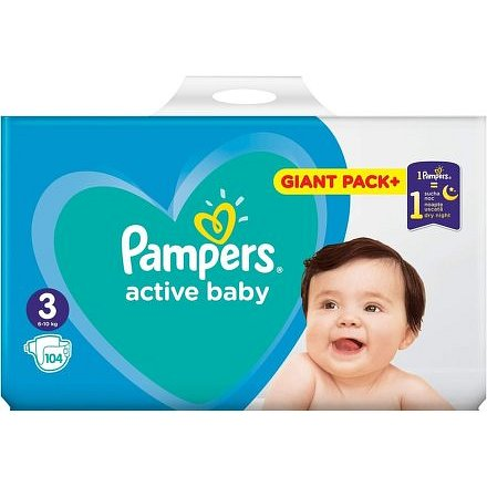 Pampers Active Baby Giant Box S3 108ks