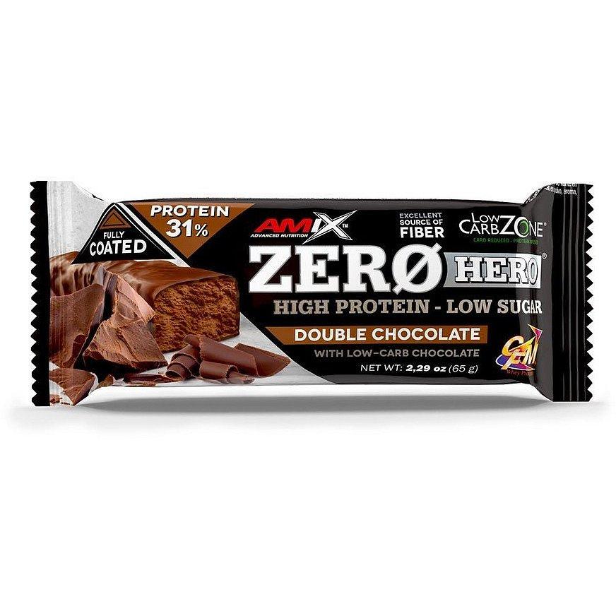 Amix Zero Hero 31% Protein Bar, Double Chocolate, 65g