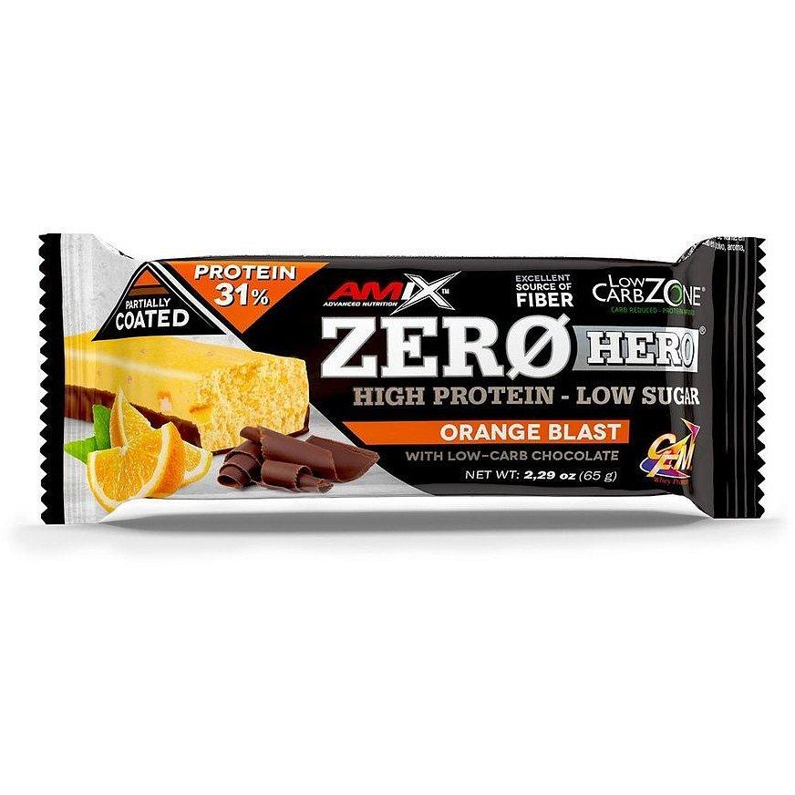 Amix Zero Hero 31% Protein Bar, Orange, 65g