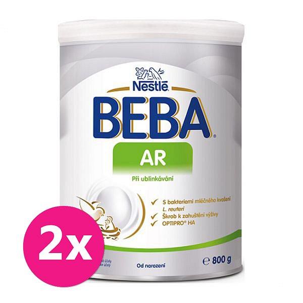 2x BEBA AR, mléčná kojenecká výživa při ublinkávání 800 g