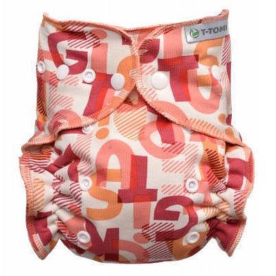 Kalhotková plena - přebalovací set patentky, pink Alphabet