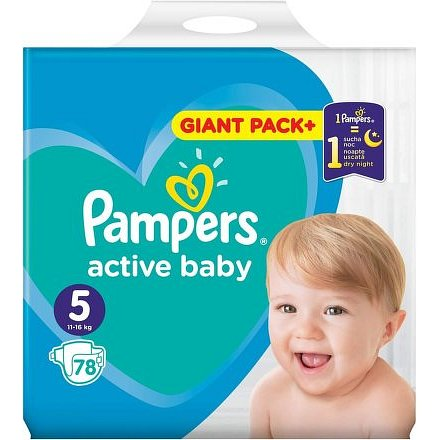 Pampers Active Baby Giant Box S5 78ks