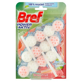 Bref Power Aktiv ProNature Grapefruit tuhý WC blok 3x50 g