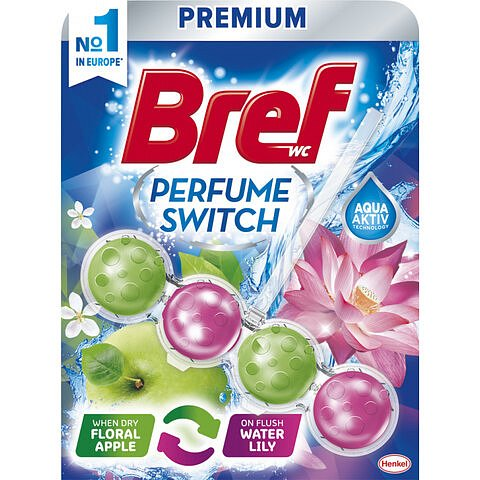 Bref Perfume Switch Floral Apple & Water Lily WC blok 50 g