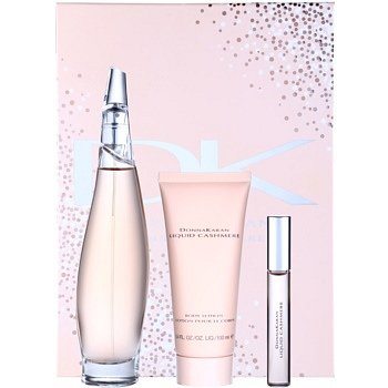 DKNY Liquid Cashmere dárková sada I. parfémovaná voda 100 ml + parfémovaná voda 10 ml + tělové mléko 100 ml