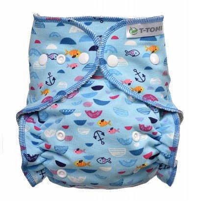 Kalhotková plena - přebalovací set patentky, blue Sea