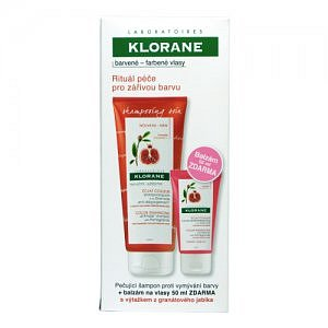 KLORANE šampon s výtažky z granátového jablka bez sulfátů 200ml + balzám na vlasy 50ml