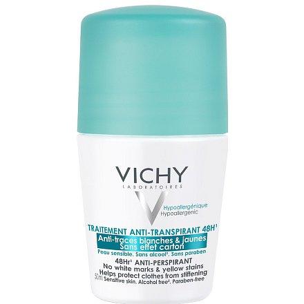 Vichy Antiperspirant 48h Deodorant proti nadměrnému pocení beze skvrn - kulička 50ml