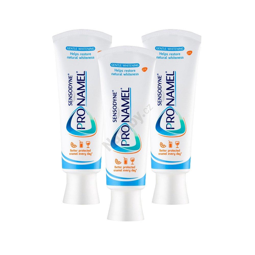 Sensodyne Pronamel zubní pasta Whitening 75ml výhodné balení 3×75 ml