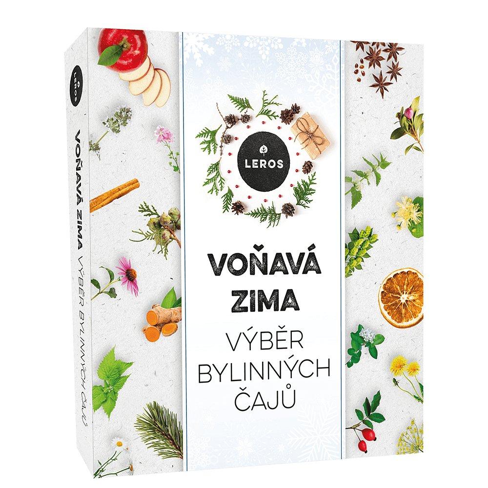 LEROS Voňavá zima dárkový box bylinných čajů  9 x 5 sáčků