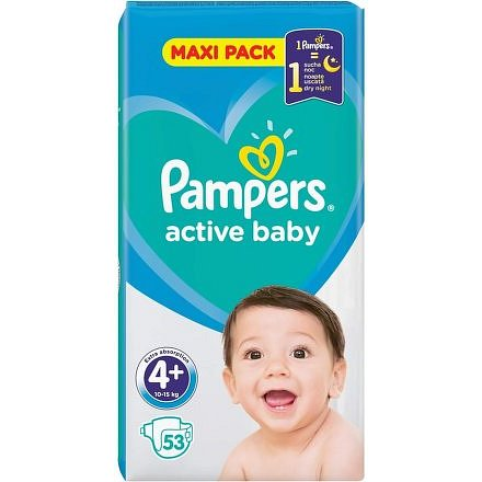 Pampers Active Baby Maxi Pack S4+ 53ks