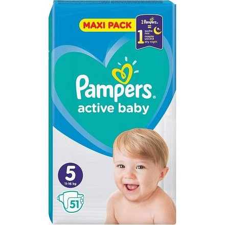 PAMPERS Active Baby Maxi Pack S5 51ks