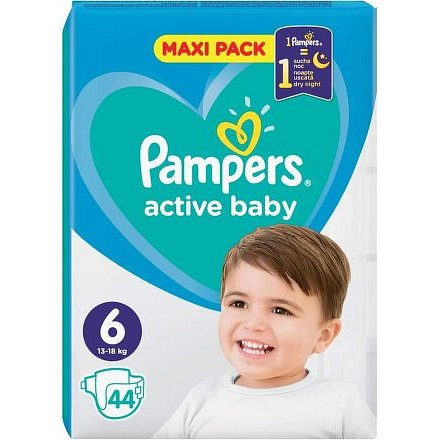 PAMPERS Active Baby Maxi Pack S6 44ks