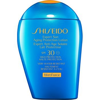 Shiseido Sun Care Expert Sun Aging Protection Lotion WetForce opalovací mléko na obličej a tělo SPF 30  100 ml