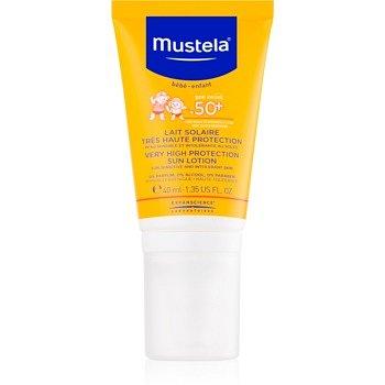 Mustela Solaires ochranný krém na obličej SPF 50+ 40 ml