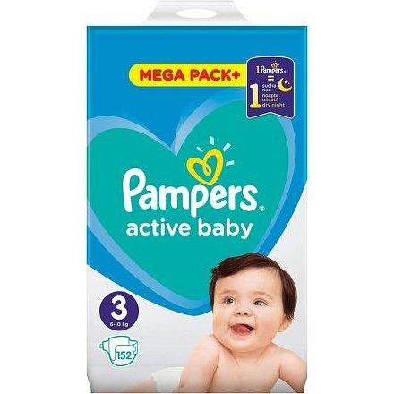 Pampers Active Baby Mega Pack S3 152ks