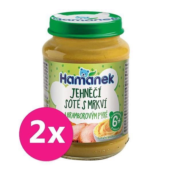 2x HAMÁNEK Masozeleninový příkrm Jehněčí soté s mrkví a bramborovým 190 g