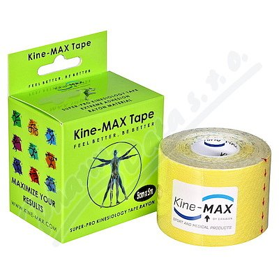 KineMAX SuperPro Ray. kinesiology tape žlut.5cmx5m