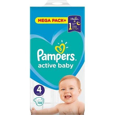 Pampers Active Baby Mega Pack S4 132ks