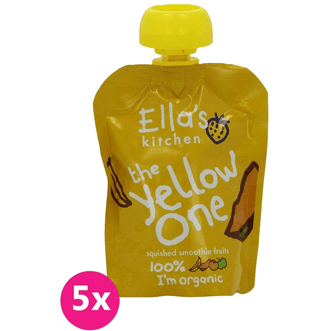 5x ELLA´S Kitchen Ovocné pyré - Banán (The Yellow One) 90g