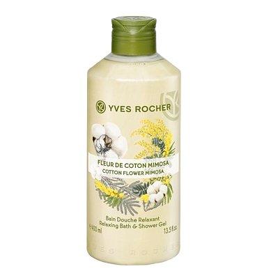 Yves Rocher Sprchový gel Květ mimózy & bavlna 400ml