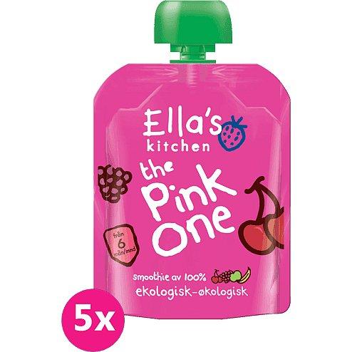5x ELLA'S Kitchen, Pink One (Třešeň) 90 g - Ella's Kitchen Ovocné pyré Pink One Třešeň 5x90 g
