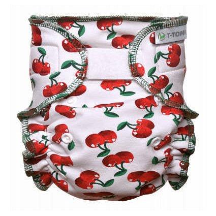 Kalhotková plena - přebalovací set suchý zip, cherries