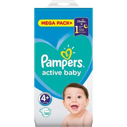 Pampers Active Baby Mega Pack S4+ 120ks