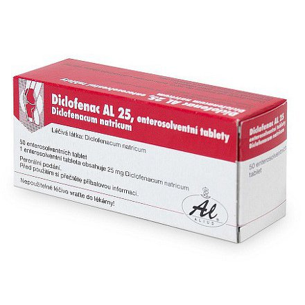 Diclofenac AL 25 tablety 50 x 25mg