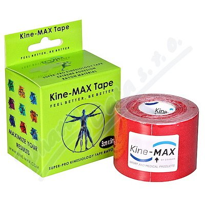 KineMAX SuperPro Ray. kinesiology tape červ.5cmx5m