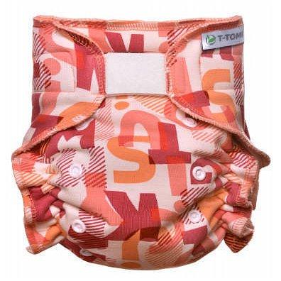 Kalhotková plena - přebalovací set suchý zip, pink Alphabet