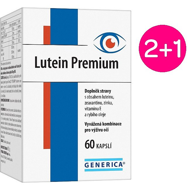 Lutein Premium 60 kapslí 2+1 zdarma