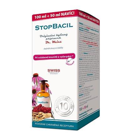 STOPBACIL sirup Dr. Weiss při oslabené imunitě a vyčerpání 100+50ml NAVÍC