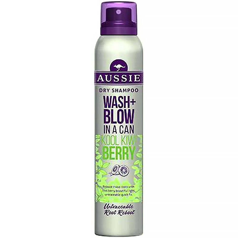 AUSSIE Wash+Blow Kool Kiwi Berry suchý šampón 180 ml