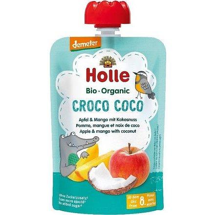 Croco Coco-Pouchy Apple, Mango with Coconut – Bio ovocné pyré jablko mango, kokos