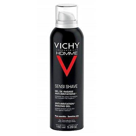 Vichy Homme Gel na holení na citlivou a problematickou pokožku 150ml