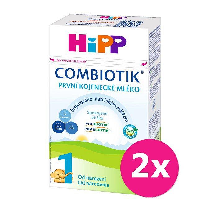 2x HiPP 1 BIO Combiotik - počáteční mléčná kojenecká výživa, 500 g