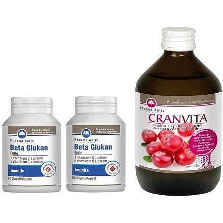 Beta Glukan Forte 1+1 60cps. + Cranvita 500ml