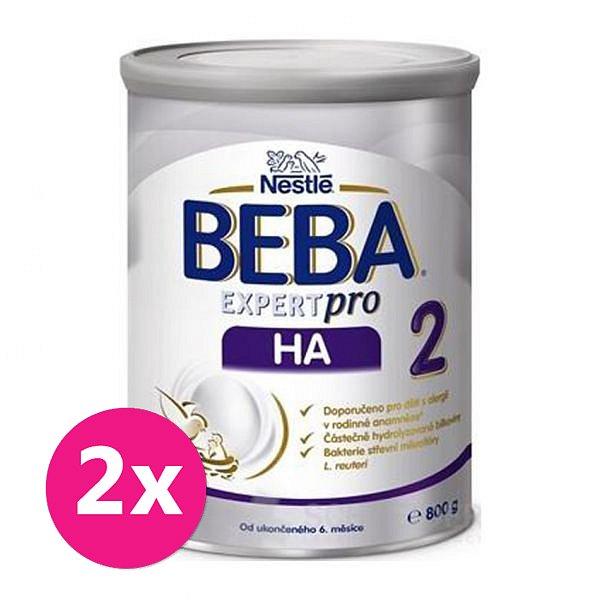 2x BEBA EXPERTpro HA 2, mléčná kojenecká výživa 800 g