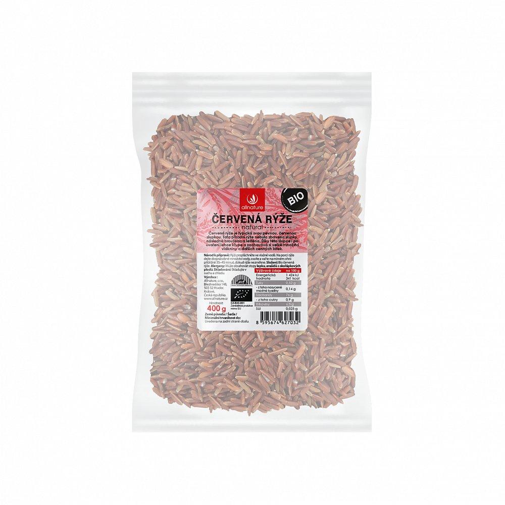 Allnature Červená rýže natural Bio 400 g