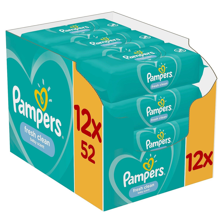 12x PAMPERS Fresh Clean 52 ks - vlhčené ubrousky